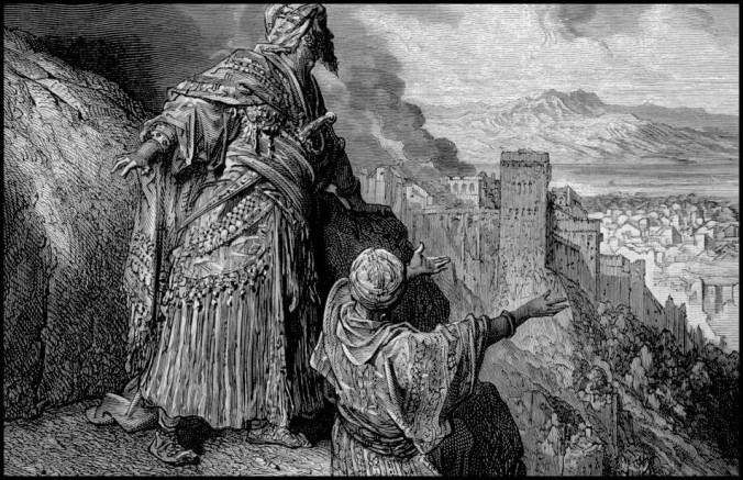 IMG04 - Arte de Gustave Doré. Aqui representando a capital em chamas durante a Conquista.